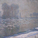 Claude Oscar Monet - Ice Floes, Misty Morning