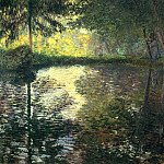 Claude Oscar Monet - The Pond at Montgeron, 1876. jpeg