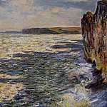 Waves and Rocks at Pourville, Claude Oscar Monet