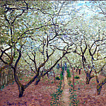 Orchard in Bloom, Claude Oscar Monet