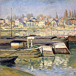 The Seine at Asnieres 02, Клод Оскар Моне