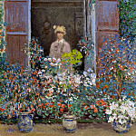 Клод Оскар Моне - Camille Monet at the Window, Argentuile, 1873 1