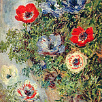Stilll Life with Anemones, Claude Oscar Monet