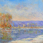 Floating Ice near Bennecourt, Claude Oscar Monet