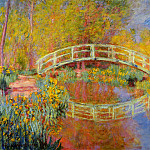 The Japanese Bridge , Claude Oscar Monet