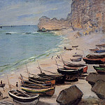 Boats on the Beach at Etretat, Клод Оскар Моне