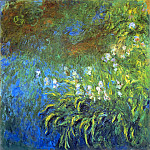 Iris at the Sea-Rose Pond, Claude Oscar Monet