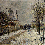 Claude Oscar Monet - Snow Effect, The Boulevard de Pontoise at Argenteuil