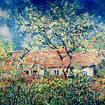 Springtime at Giverny, Claude Oscar Monet