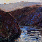 Valley of the Creuse, Evening Effect, Claude Oscar Monet