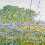 Springtime. Meadow at Giverny, Claude Oscar Monet