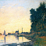 Argenteuil, Late Afternoon, Claude Oscar Monet