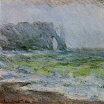 Claude Oscar Monet - The Manneport, Etretat in the Rain
