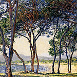 Trees by the Seashore at Antibes, Клод Оскар Моне