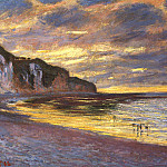 Claude Oscar Monet - L'Ally Point, Low Tide