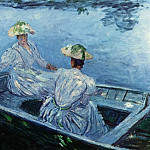 The Blue Row Boat, Claude Oscar Monet