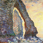 The Rock Needle Seen through the Porte d'Aval, Клод Оскар Моне