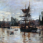 Boats at Rouen, Клод Оскар Моне