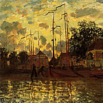 Zaandam, The Dike, Evening, Клод Оскар Моне