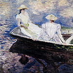 Girls in a Boat, Claude Oscar Monet