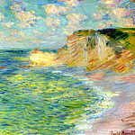 Cliffs at Amont, Claude Oscar Monet
