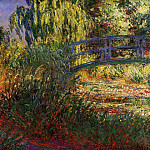 Claude Oscar Monet - The Japanese Bridge (The Water-Lily Pond and Path by the Water), 1900 2