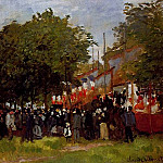 Festival at Argenteuil, Claude Oscar Monet