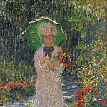 Camille with Green Parasol, Клод Оскар Моне