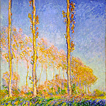 Poplars, Autumn, Pink Effect, Claude Oscar Monet