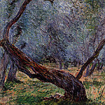 Olive Trees , Claude Oscar Monet