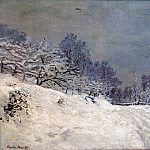 The Road in front of Saint-Simeon Farm in Winter, Claude Oscar Monet