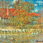 Клод Оскар Моне - The Pond with Ducks in Autumn