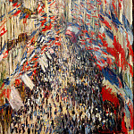 The Rue Montorgueil, Paris, Festival of June 30, Claude Oscar Monet