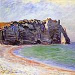 Claude Oscar Monet - The Manneport, Etretat, the Porte d'Aval