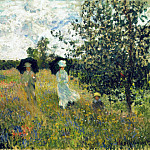 The Promenade near Argenteuil, Claude Oscar Monet