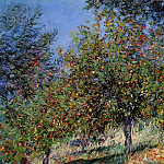 Apple Trees on the Chantemesle Hill, Claude Oscar Monet