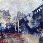 Claude Oscar Monet - Saint-Lazare Station, The Pont de l'Europe