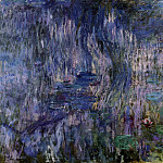 Клод Оскар Моне - Water Lilies, Reflection of a Weeping Willow