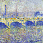 Waterloo Bridge, Effect of the Sun, Claude Oscar Monet