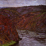Claude Oscar Monet - Valley of the Creuse, Grey Sky