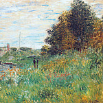 The Banks of the Seine at the Argenteuil Bridge, Клод Оскар Моне