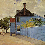 The Blue House at Zaandam, Клод Оскар Моне