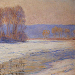 The Seine at Bennecourt in Winter, Клод Оскар Моне