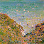 View from the Cliff at Pourville, Bright Weather, Claude Oscar Monet
