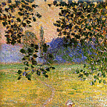 Evening in the Meadow at Giverny , Claude Oscar Monet