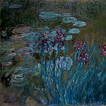 Клод Оскар Моне - Irises and Water-Lilies