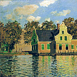 Claude Oscar Monet - Houses on the Zaan River at Zaandam