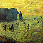 Cliffs at Etretat, Claude Oscar Monet
