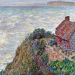 Claude Oscar Monet - Fisherman`s House in Petit-Ailly