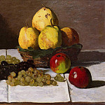 Клод Оскар Моне - Still Life with Pears and Grapes